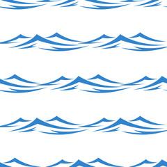 Undulating waves seamless background pattern
