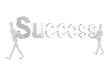 success letter  in isolate with clipping path