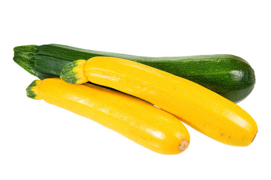 Zucchini and yellow squash isolated