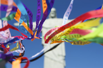 Brazilian Wish Ribbons Statue of Christ the Redeemer Rio
