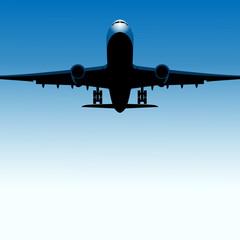 samolot tło wektor