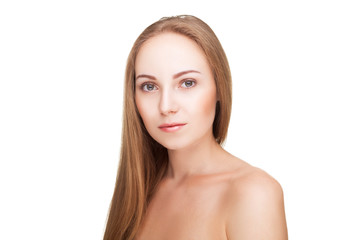 Wall Mural - Beautiful young woman with healthy skin