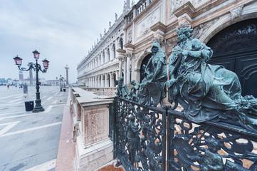 Fototapete - Sculpture in San Marco square, Venice, Italy