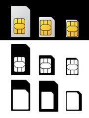 vector sim card standard micro nano adapter