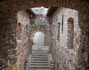 Klosterruine Arnoldstein Treppenaufgang