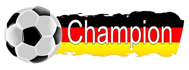 Fußball mit Deutschlandfahne Champion
