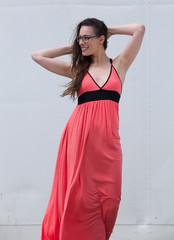 Elegant young woman smiling
