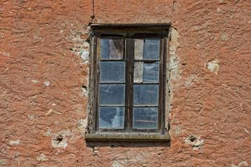 old abandoned hayloft window