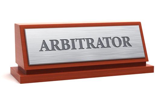 Arbitrator job title on nameplate
