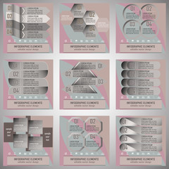 Set of modern infographic option banner with four steps
