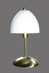 isolated lamp on gray