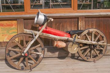wooden motor bike