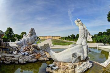 Fotobehang Wenen Wien Schönbrunn Schlosspark