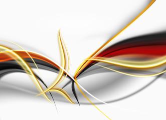 Obraz abstrakcja złoto-ogniste fale - fototapety do salonu