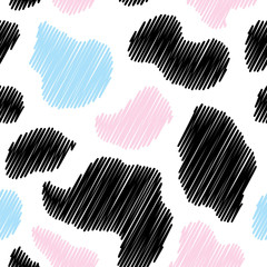 Cow background seamless vector illustration