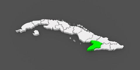 Map of Granma. Cuba.