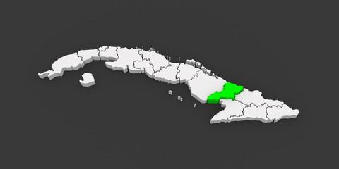 Map of Las Tunas. Cuba.