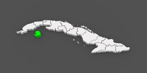 Map of Isle of Pines. Cuba.