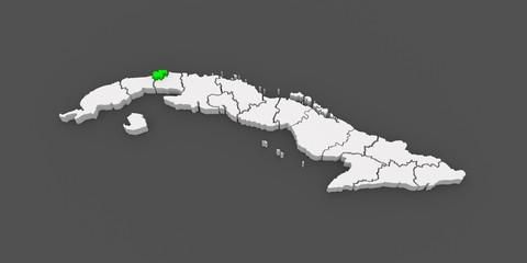 Map of Havana City. Cuba.