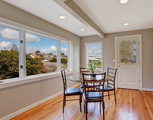 Bright dining room with view