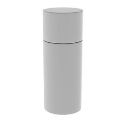 White blank can isolated