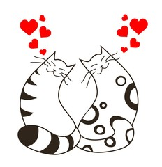 Happy valentines day love cats
