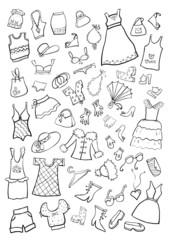 Hand Drawn Cartoon Clothes