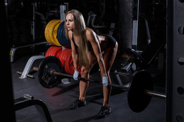 Beautiful girl in the gym