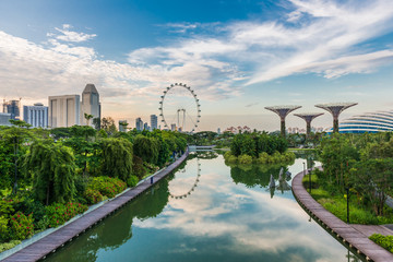 SINGAPORE -JUNE 19: Singapore Flyer - the Largest Ferris Wheel i