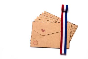 Brown gift envelope