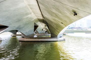 view under Esplanade bridge, Singapore