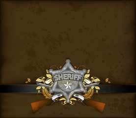 ornate frame with sheriff star