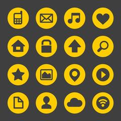 Universal Simple Web Icons Set 1