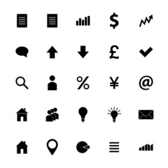Set of business icons, vector illustration