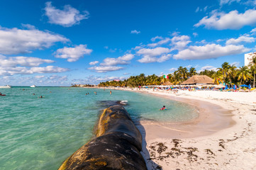 Playa del Norte beach in Isla Mujeres, Mexico