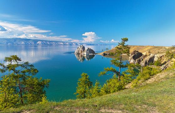 Summer on Lake Baikal. Sunny day on Olkhon island
