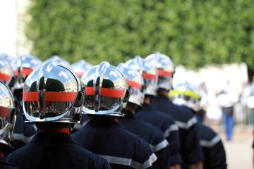 Défilé de pompiers