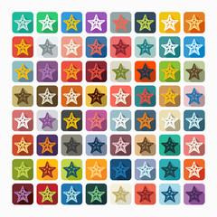 Flat design: starfish