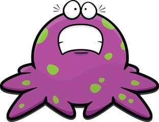 Cartoon Purple Octopus Scared