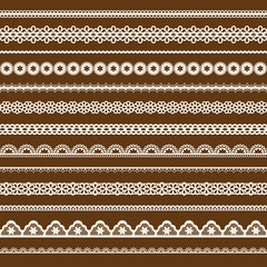 collection of vector lace