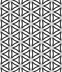 Seamless latticed pattern. Lacy circles and hexagons texture.