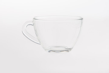 Empty glass tea cup