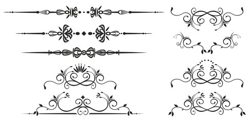 Decorative swirl elements