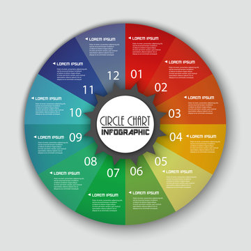 Rainbow Color Circle Chart Info graphic