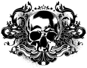 human skull decorative