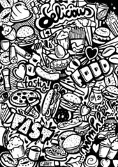 Fast Food Doodle