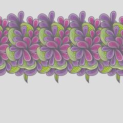 Seamless Floral Flower Swirl Pattern Background Border