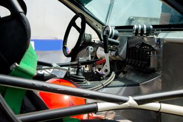 inside the race car