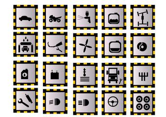 ikony motoryzacyjne