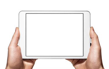A new tablet mini on hand